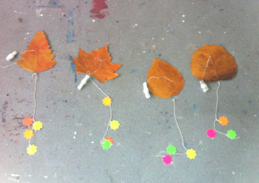 Leaf-kites in Draíocht Residency. Photo credit Kathy Herbert