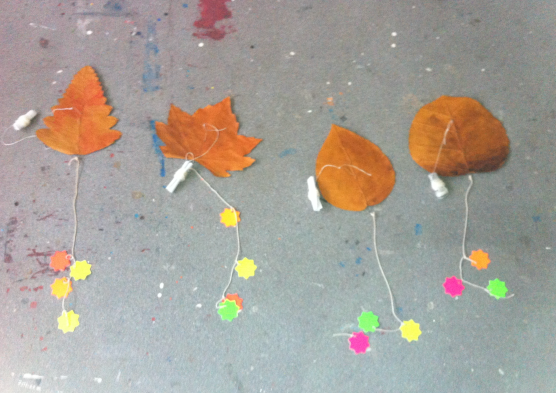 Leaf-kites in Draíocht Residency. Photo credit Kathy Herbert