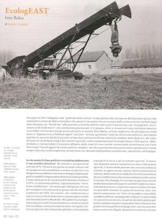 EcologEAST. Imre Bukta (Juliet n. 178)