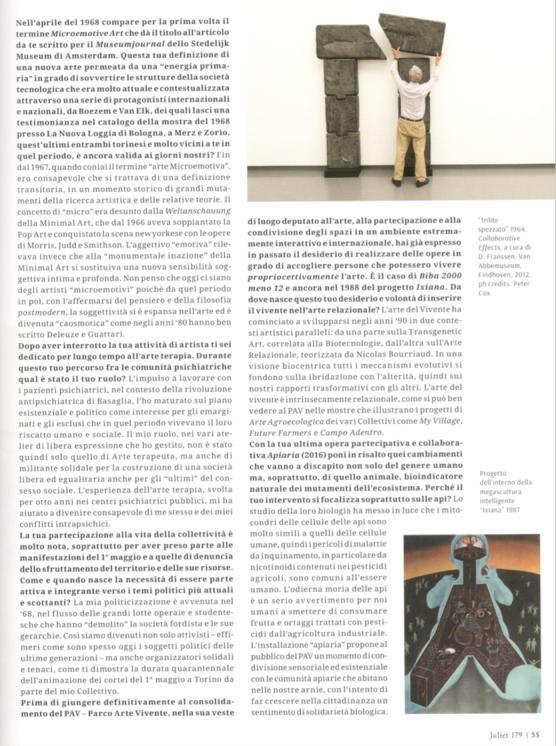 Piero Gilardi. La mia biopolitica (Juliet n.179)
