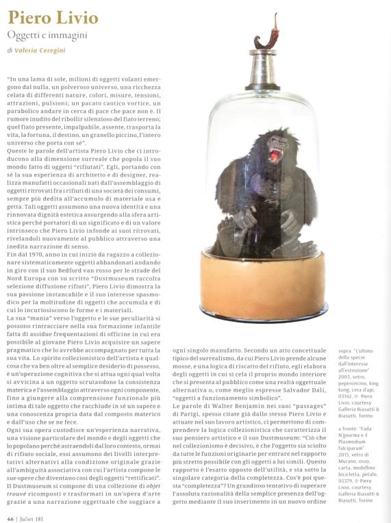 Piero Livio. Oggetti e immagini (Juliet n. 181)