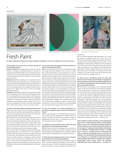Fresh Paint (The Visual Artists' News Sheet- VAN, ISSUE 5 September-October 2017)