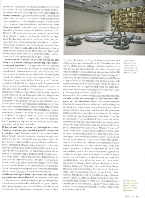 Ana Lupas. Arte come pratica sociale (Juliet n. 179)