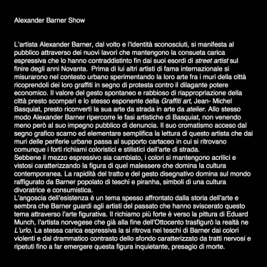 Alexander Barner, Alexander Barner Show, 2014.