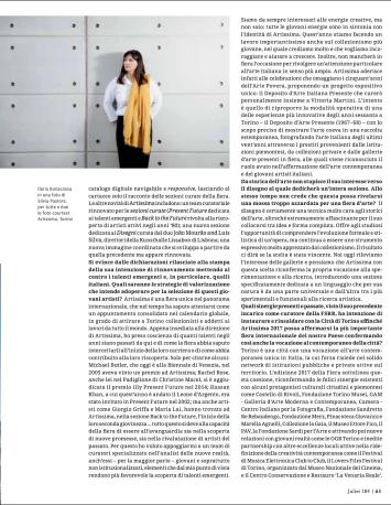 Ilaria Bonacossa. Artissima 2017 (Juliet n.184)
