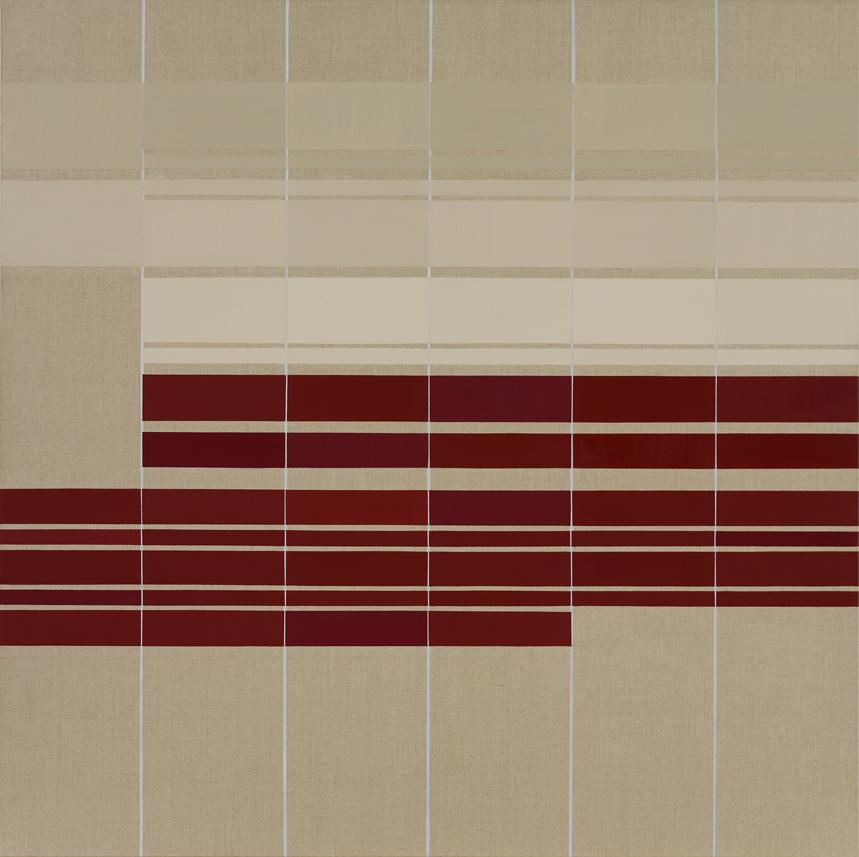 2016 - L6. Evensong. oil on linen, 150 x 150 cm. Photo credit Willem Kuijpers