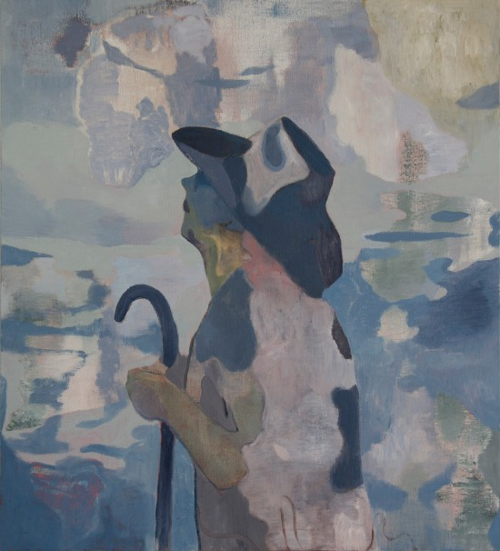 Oilithreach (Pellegrino), 2018. Oil on canvas, 81x73cm copia
