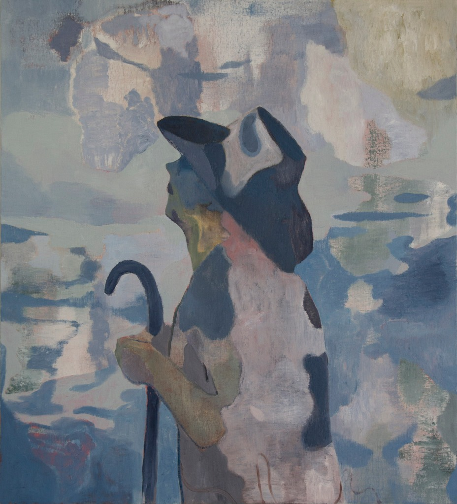 Oilithreach (Pellegrino), 2018. Oil on canvas, 81x73cm