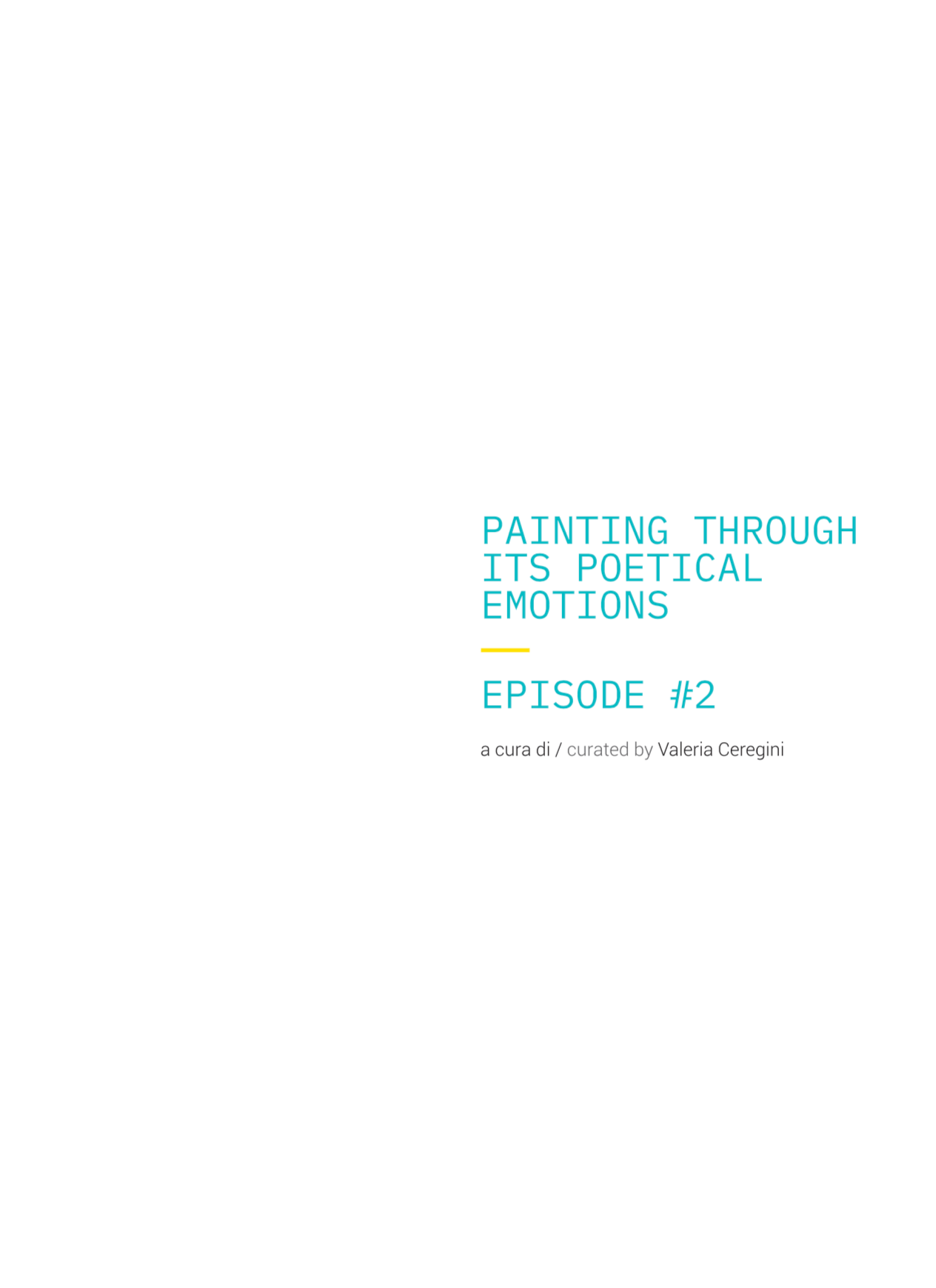 Painting through its poetical emotion - Episode #2
