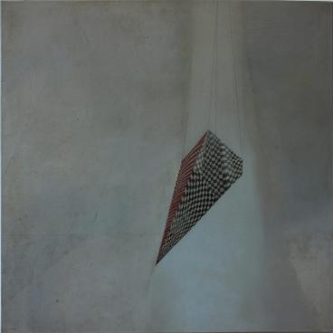 Suspension, 2018. Oil on canvas, 60 x 60 cm.