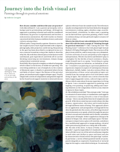 Journey into the Irish visual art. Painting through its poetical emotions (Juliet n.190)