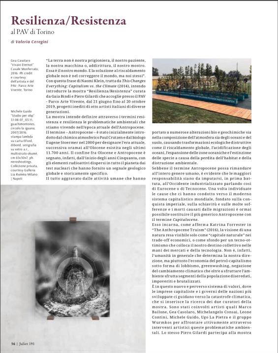 Resilienza/Resistenza al PAV Torino (Juliet n.193)