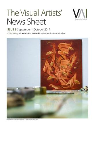 The Visual Artists' News Sheet - VAN, ISSUE 5 September-October 2017