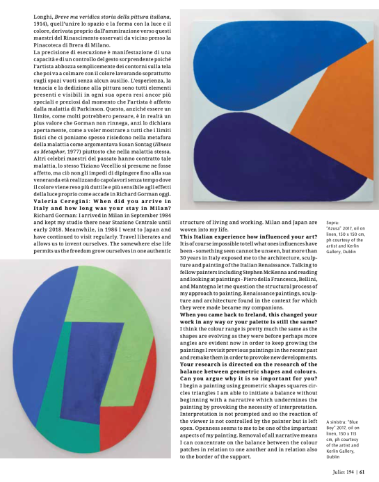 Richard Gorman. The Importance of Being Painter (Juliet n.194)